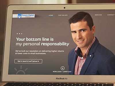 Dribbble website debut slide full seo header image grid
