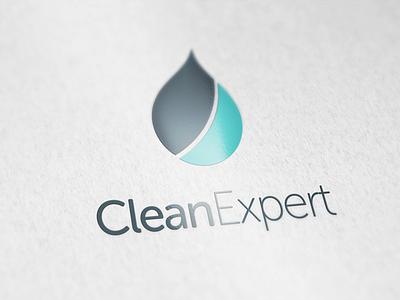 Clean Expert logo design identity logotype logo