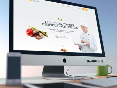 Website design food page landing homepage website