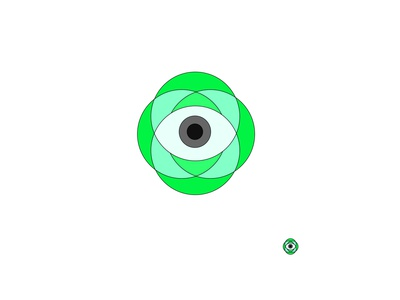 eye logo icon vector logo design illustrator
