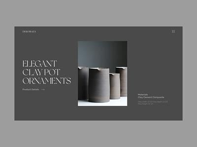 Dekoraza website website design web design motion graphics landing page graphic design design concept branding animation