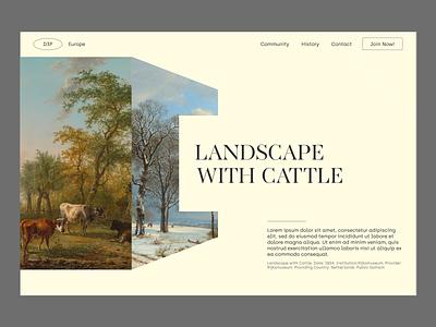 D3P Website Concept web design landing page graphic design design concept branding animation