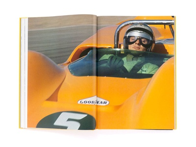 Mclaren 50 Years Of Racing  book graphic design mclaren bruce mclaren