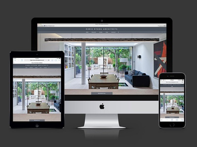 Chris Dyson Architects website flat website responsive architects