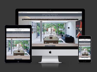 Chris Dyson Architects website flat website responsive architects