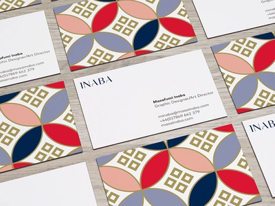 Masa Inaba business card graphic design business card branding