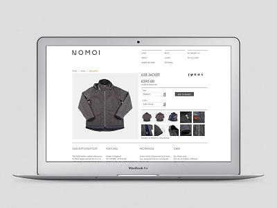 NOMOI eCommerce website website ecommerce shopify branding