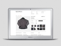 NOMOI eCommerce website