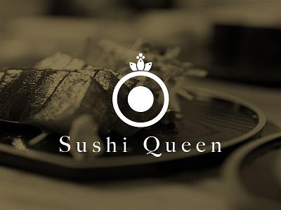 Sushi Queen logo branding sushi website
