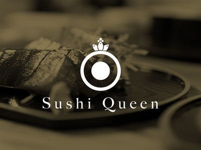 Sushi Queen logo branding sushi website