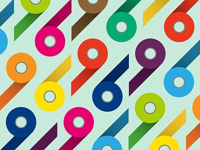 Tape illustration colorful illustration