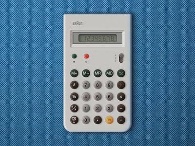 Braun calculator made in Sketch.app old retro free download dieter rams calculator calc training braun sketch vector interface dieter rams