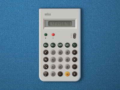 Braun calculator made in Sketch.app
