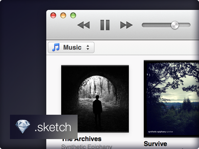 iTunes 11 GUI sketch itunes apple gui freebee