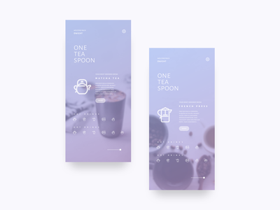 One Tea Spoon dribbble ux ui iphone x uiux sketch
