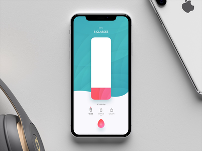 Track Your Daily Water Consumption health water principal drink principle app clean design dribbble design ui ux animation iphone x ios app uiux sketch