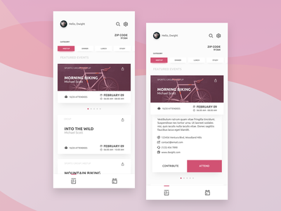 Events Around You event app social app clean design dribbble design ux ui iphone x ios app uiux sketch