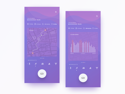 Fitness App fitness tracker biking app health app running app fitness app clean design dribbble design ux ui iphone x ios app uiux sketch