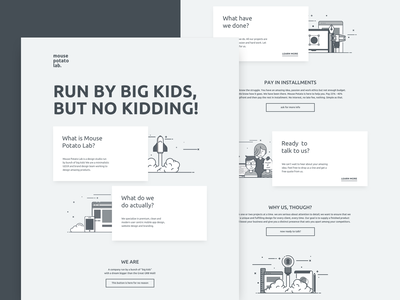 Mouse Potato Lab Landing Page clean design design dribbble landing page uiux sketch