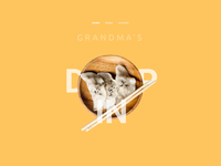 Grandma's Dumpling Hero Section Animated