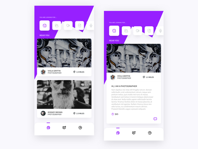 Creatives For Hire clean design ux ui dribbble design iphone x ios app uiux sketch