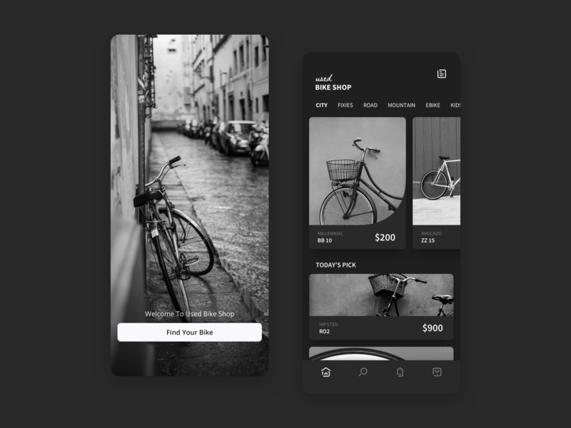 Bike Shop ecommerce app clean design ux ui dribbble design iphone x ios app uiux sketch