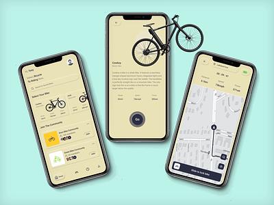 E-Bike App typography vector branding illustration graphic design app ui ux minimal design