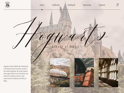 Hogwarts minimal ux web design