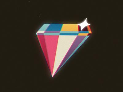 Faux 3D Diamond logo design illustration 2d animation photoshop 2d motion design motion graphics after effects animation