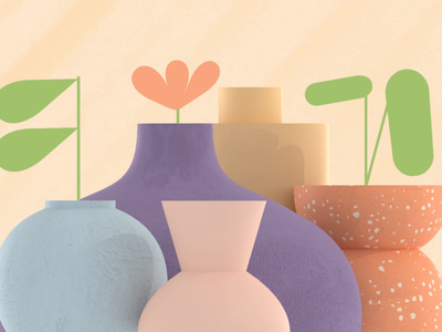 Etsy Ceramics cinema 4d motion design c4d 3d motion graphics animation after effects