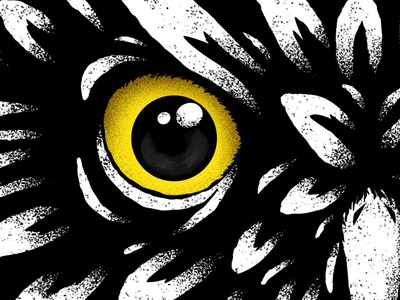 """Night Owl"" - Animalator adobe 2d animal design texture owl illustrator photoshop illustration"