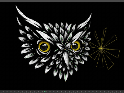 Night Owl - Animalator texture photoshop owl illustrator illustration design animal adobe 2d cinema 4d c4d 3d