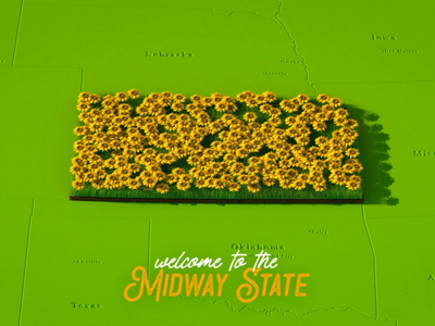Welcome to the Midway State illustration photoshop cinema 4d 2d motion design c4d 3d motion graphics after effects animation
