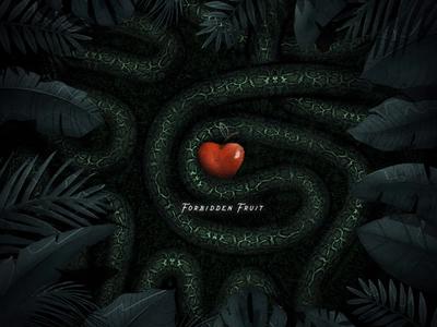 Forbidden Fruit 2d animation photoshop 2d motion design cinema 4d c4d 3d motion graphics after effects animation
