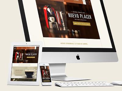 Britt Espresso coffee landing page responsive web ux ui visual design