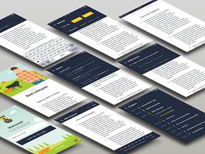 Reader App android ios ux design ui responsive app