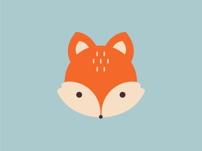 Little foxy head animal fox illustration design icon