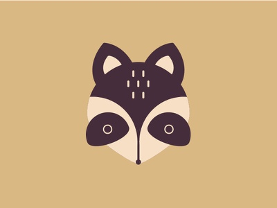 Little raccoon illustration icon head raccoon design animal