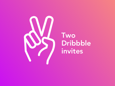 2 Dribbble Invites giveaway freebie dribbble invite