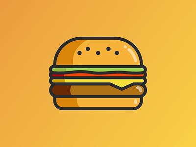 mmmunchies - Slack bot burger hamburger app bot slack ui icon logo