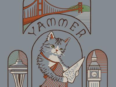 Yammer T-Shirt Illustration