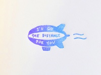 Greeting Card: I'll Go The Distance For You