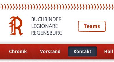 Baseball Header header navigation logo baseball redesign website