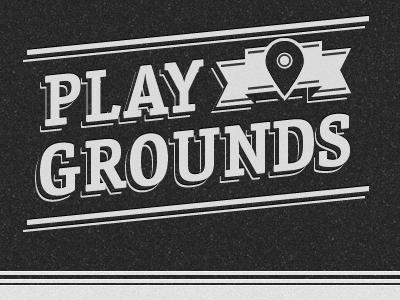 Playgrounds logo dirt black gray pin
