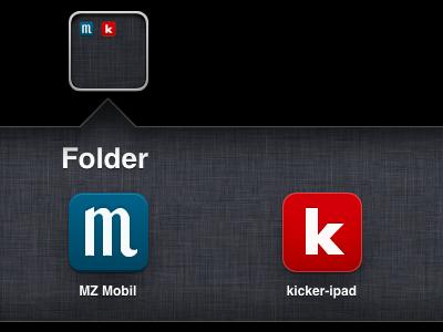 iPad App Icons icons ios ipad red blue kicker
