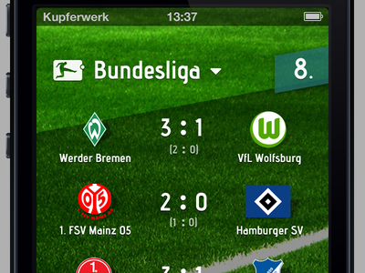 Football App (video attached) app ios green football grass video