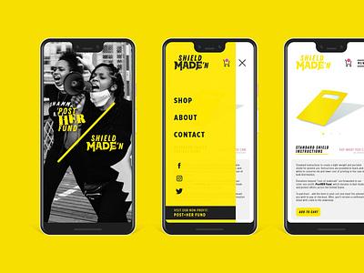 ShieldMADE'n // Post-Her Fund mobile design web design web design vector ui mockup