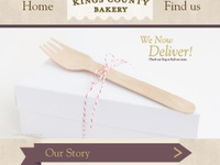 Mobile Web Preview for Bakery Website