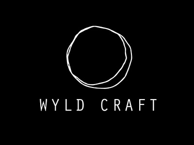 Wyld Craft Creative & Design Logo minimalist circle organic moon creative craft wyld branding design logo