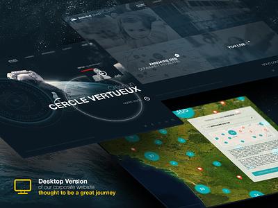 Desktop version - Banlieue Ouest banlieue ouest desktop webdesign parallaxe responsive blue dark space journée